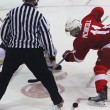 Cedric McNicoll readies himself for the face-off (Lauren Benson-Armer / McGill Tribune)