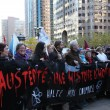 Students protest in monster themed austerity march. (L-A Benoit / McGill Tribune)