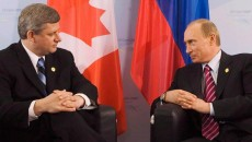 Stephen Harper and Vladimir Putin