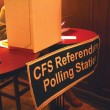Polling stations were present in various locations around campus last week. (Jack Neal/McGill Tribune)