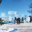 Bonhomme's Ice Palace at Carnaval de Quebec. (Lesly Yao / McGill Tribune)