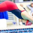 McGill's Simone Cseplo dives into the pool. (APshutter.com)