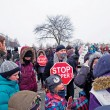 Protesters gather against Bill C-51 amidst privacy concerns. (Noah Sutton / McGill Tribune)