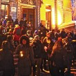 Students hold a memorial for the Egyptian victims on steps of Redpath Museum. (Jack Neal / McGill Tribune)