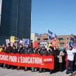 Protestors march against austerity cuts in education and other public services. (Cece Zhang / McGill Tribune)